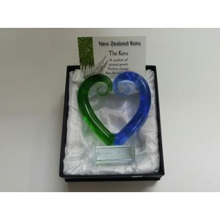 Kamo Florist - Glass Koru Heart